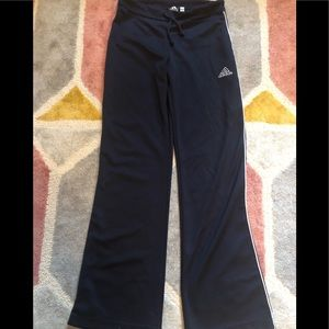 Adidas classic vintage navy dark blue track pants
